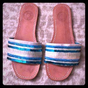 Gap Sequin Slide Flat Sandals